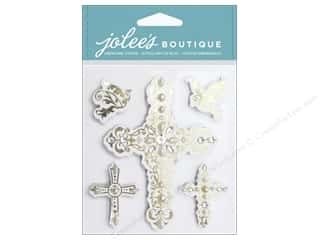 Religious Subjects Stickers: Jolee's Boutique Stickers Crosses & Doves