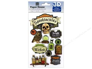 Paper House Sticker 3D Spooktacular