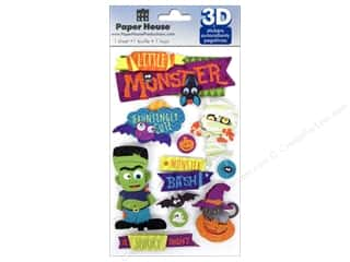 House of White Birches 11 in: Paper House Sticker 3D Halloween Monster