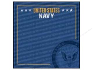 "Careers & Professions $3 - $5: Paper House Paper 12""x 12"" Navy Emblem (25 pieces)"