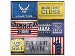 "Scrapbooking Americana: Paper House Paper 12""x 12"" Air Force Tags (25 pieces)"