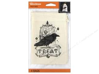 Halloween inches: Jolee's Boutique Halloween Treat Bags Canvas Vintage