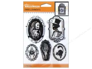 Halloween: Jolee's Boutique Halloween Embellishments Cameos Black & White