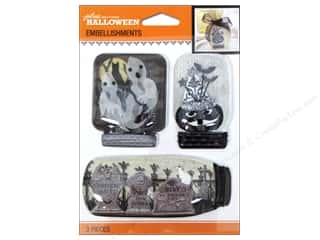 EK Success Halloween Spook-tacular: Jolee's Boutique Halloween Embellishments Mason Jar Black & White