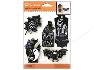 Chalk Black: Jolee's Boutique Halloween Embellishments Chalk Words Black & White