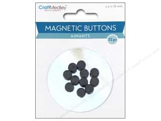 Multi's Embellishment  Yarn 7mm: Multicraft Tools Magnetic Buttons 8mm 22pc