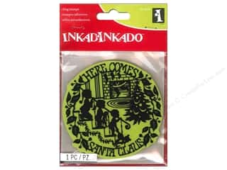 Rubber Stamping Children: Inkadinkado Cling Stamp Here Comes Santa