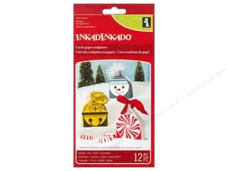 Winter Clear: Inkadinkado Clear Stamp Paper Sculpture Ornament