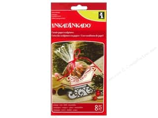 Window Cling Design Clearance Crafts: Inkadinkado Clear Stamp Paper Sculpture Sleigh