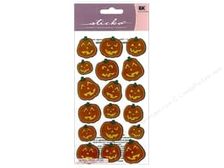 sticko: EK Sticko Stickers Scary Pumpkins