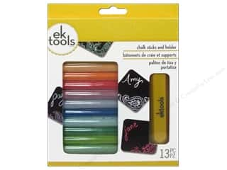 EK Success 12 in: EK Chalk Set With Holder Primary & Pastel