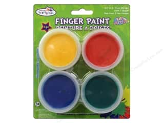 Multi's Embellishment  Yarn Multicraft Krafty Kids: Multicraft Krafty Kids Finger Paint Tub Assorted Primary 4 Pack