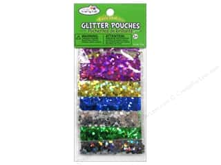 Drawing $0 - $4: Multicraft Krafty Kids Glitter Pouches 12g Big Hexagon