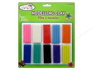 Multi's Embellishment  Yarn Clay & Modeling: Multicraft Krafty Kids Modeling Clay Assorted 10 Pack 200g