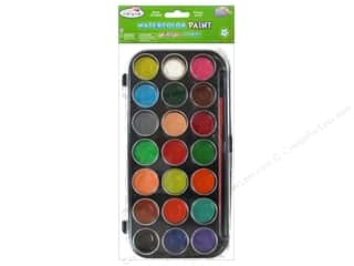 Multi's Embellishment  Yarn Multicraft Krafty Kids: Multicraft Krafty Kids Lil Artist Watercolor 21 Tub with Brush