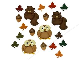 Fall / Thanksgiving Buttons: Jesse James Dress It Up Embellishments Woodland Critters