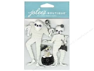 Craft Embellishments Black: Jolee's Boutique Embellishments Wrapped Mummies Black & White