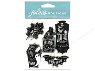 Craft Embellishments Black: Jolee's Boutique Halloween Embellishments Chalkboard Words Black & White