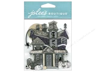 Craft Embellishments Black: Jolee's Boutique Embellishments Haunted House Black & White