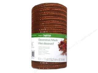 Craft Embellishments 1 Yard: FloraCraft Decorative Mesh Bronze 6 in. x 10 yd.