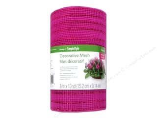 FloraCraft Decorative Mesh Hot Pink 6 in. x 10 yd.