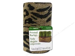 Ribbons Sale: FloraCraft Burlap Ribbon 5 in. x 5 yd. Animal Print Black