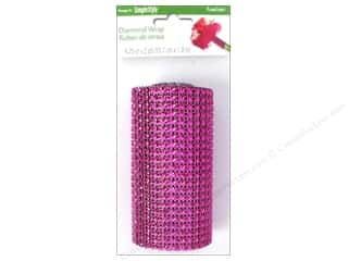 "FloraCraft Ribbon Diamond Wrap 4.25""x 6ft Fuchsia"