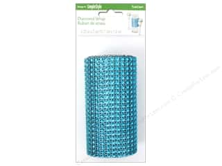 FloraCraft Mesh Diamond Wrap Turquoise 4 1/4 in. x 2 yd.