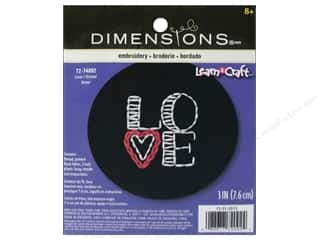 Love & Romance paper dimensions: Dimensions Embroidery Kit Love