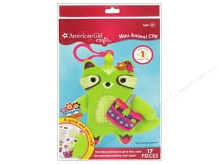 Dolls and Doll Making Supplies: American Girl Kit Mini Animal Clip Raccoon