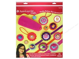 Buttons Kids Crafts: American Girl Kit Pretty Button Hair Accessories