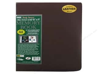 "Pioneer Photo Album Inc Glues/Adhesives: Pioneer Scrapbook Memory 8.5""x 11"" Leather Burgundy"