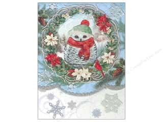 Punch Studio Note Pad Snow Owl Window Pocket