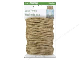 Cording 15 Yards: Floracraft Jute Twine 15 yd. Natural (2 yards)