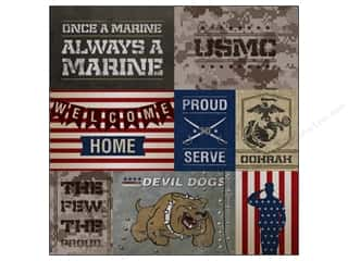"Scrapbooking Americana: Paper House Paper 12""x 12"" Marines Tags (25 pieces)"