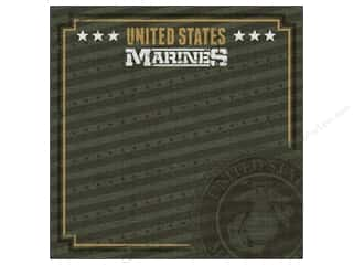 "Stamps Americana: Paper House Paper 12""x 12"" Marines Emblem (25 pieces)"