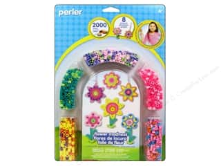 Crafting Kits Flowers: Perler Fused Bead Kit Flower Madness