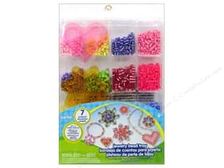 Crafting Kits Beading & Jewelry Making Supplies: Perler Fused Bead Kit Jewelry Tray