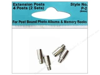 Pioneer Photo Album Inc Blue: Pioneer Extender Post Standard 8mm 4pc