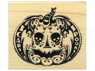 Wood Halloween: Inkadinkado Wood Stamp Mindscape Pumpkin