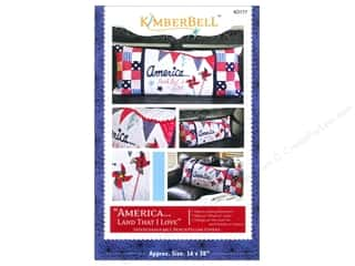 Americana Books & Patterns: Kimberbell Designs America Land That I Love Bench Pillow Pattern