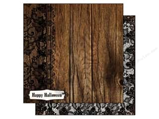 Wood Halloween: Authentique 12 x 12 in. Paper Spirited Collection Suspicious (25 pieces)