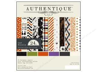 Wood Halloween: Authentique 6 x 6 in. Paper Bundle Spirited 24 pc.