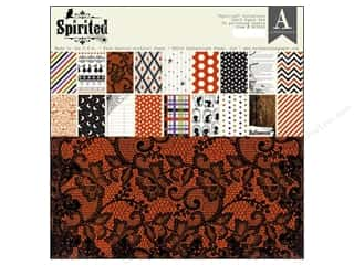 Wood Halloween: Authentique Paper Pad 12 x 12 in. Spirited