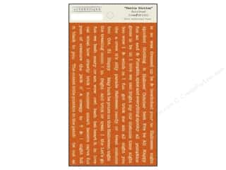 Weekly Specials EZ Acrylic Ruler: Authentique Stickers 3 1/2 x 6 in. Spirited Petite Diction (12 set)