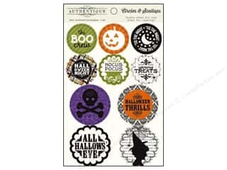 Authentique Paper Die Cuts / Paper Shapes: Authentique Die Cuts Spirited Circles & Scallops (12 sets)