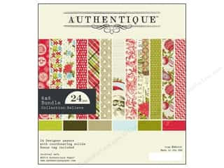 Printed Cardstock: Authentique 6 x 6 in. Paper Bundle Believe 24 pc.