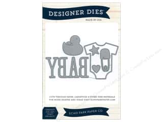 Echo Park Paper Company Chipboard: Echo Park Designer Dies Bundle Of Joy Large