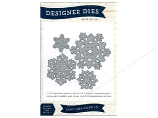 Winter $5 - $8: Echo Park Designer Dies Snowflake Set 2 Large