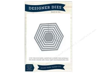 Graduations Size: Echo Park Designer Dies Hexagon Nesting Set Large
